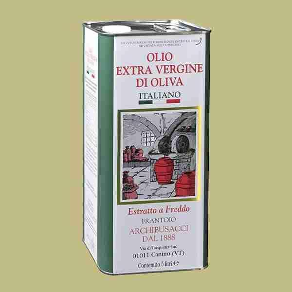 olio extravergine oliva 5lt