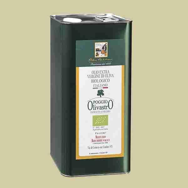 olio extravergine oliva biologico Poggio Olivastro 5lt