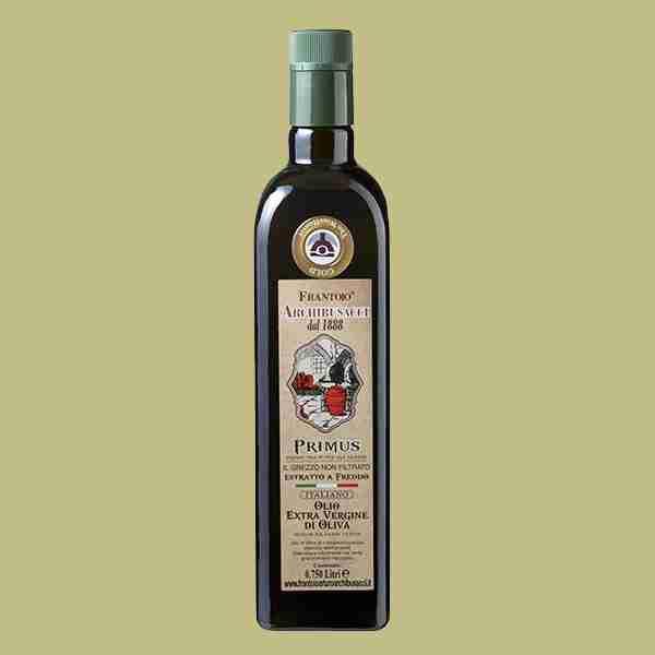 olio extravergine oliva Primus non filtrato 0,750lt